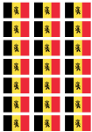 Belgium State Flag Stickers - 21 per sheet